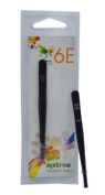 6E 3.1-inch Black Colour Coating 8cm Bended Tip Eyebrow Tweezer