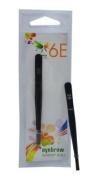 6E 3.1-inch Black Colour Coating 8cm Bended Tip Eyebrow Tweezer