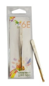 6E 8.9cm Bended Gold Plated Tip Eyebrow Tweezer