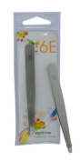 6E 8.9cm Mirror Finish Slant Tip Eyebrow Tweezer