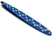 Beauty Tools Full Size Slant Tweezer Professional Tweezers Blue Polka Dots. C...