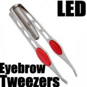 Big Bargain LED White Flash Light Eyelash Eyebrow Tweezers Brows Clip