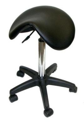 Hair Art Saddle Cutting Stool Black Soft Leather Like