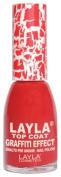 Layla Cosmetics Graffiti Top Coat N.5 Red Nail Polish