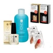 Cnd Shellac Treatment Kit - Top Coat + Base Coat + More