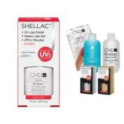 Cnd Shellac Usa Starter Kit - Cream Puff Colour Starter Kit - Top & Base Coat + Essentials