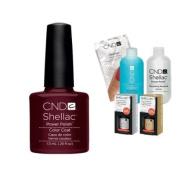 Cnd Shellac Usa Starter Kit - Dark Lava Colour Starter Kit - Top & Base Coat + Essentials