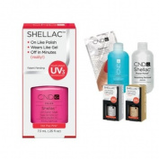 Cnd Shellac Usa Starter Kit - Hot Pop Pink Colour Starter Kit - Top & Base Coat + Essentials