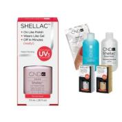 Cnd Shellac Usa Starter Kit - Romantique Colour Starter Kit - Top & Base Coat + Essentials