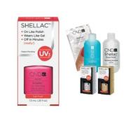 Cnd Shellac Usa Starter Kit - Tutti Frutti Colour Starter Kit - Top & Base Coat + Essentials