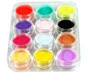 Micro Trader 12 Mix Colours Acrylic Powder Builder Nail Art Set