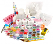 Micro Trader Acrylic Powder Primer UV Liquid Nail Art Tip Dust Strip Set