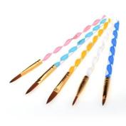 PROFESIONAL 5X 2 Ways Acrylic UV Gel Nail Art Drawing Pen Brush Cuticle Pusher