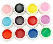 Micro Trader 12 X Mix Fluorescent Colours UV Builder Gel Set