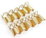 10pcs Golden Reusable UV Gel Tips Nail Art Acrylic French TIPS Tool Nail Art Tips Extension Guide Form Tool