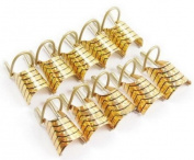 10pcs Golden Reusable UV Gel Tips Nail Art Acrylic French TIPS Tool Nail Art Tips Extension Guide Form Tool