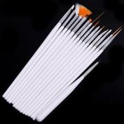 15 Nail Art Design Brushes Set Painting Pen Polish Tips