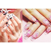 500 Transparent French False Acrylic Artificial Full Nail Art Tips + Pink Acrylic Nail Clipper/Cutter