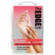 The Edge Olympic Nail Tips - 100 Assorted Sizes