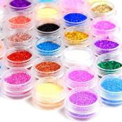 45 Colour Nail Art Makeup Decoration Glitter Dust Powder