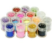 Micro Trader 16 Colour Glitter Powder Dust Nail Art Tips Decoration