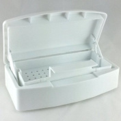 White Disinfecting Sterilising Box Tray by KingOfHearts for Manicure Pedicure Nail Art Makeup Implements and Tools