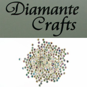300 x 4mm Clear iridescent AB Round Diamante loose Rhinestone Gems