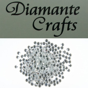300 x 4mm Clear Round Diamante loose Rhinestone Gems