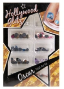 Nail Art Kit Large Rhinestones Nail Gems For Toes Clear & Coloured Oscar Glitz
