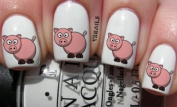 Colour Porky Pig - Nail Decals by YRNails