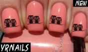 Owl couple Nail Decals by YRNails