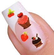 Cupcake Water Nail Art Decal / Tattoo / Sticker