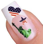 American Nail Art Decal / Tattoo / Sticker