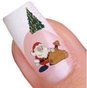 Christmas Nail Art Decal / Tattoo / Sticker