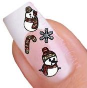 Christmas Nail Art Decal / Tattoo / Sticker Snowman