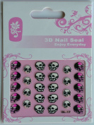 GGSELL GL Stereoscopic 3D nail art nail decals nail stickers 3 different design horrible skulls