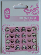 GGSELL GL Stereoscopic 3D nail art nail decals nail stickers 3 different skulls