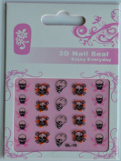 GGSELL GL Stereoscopic 3D nail art nail decals nail stickers 3 different terrible skulls