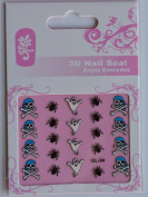 GGSELL GL Stereoscopic 3D nail art nail decals nail stickers skull head bone and spider