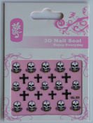 GGSELL GL Stereoscopic 3D nail art nail decals nail stickers skull head garland and cross