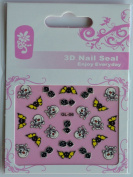 GGSELL GL Stereoscopic 3D nail art nail decals nail stickers skull head skull butterfly