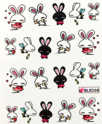 Miao Yun cartoon design rabbit nail decals water transfer decals nail hydroplaning nail stickers