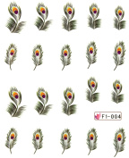Miao Yun Feather water transfer decals nail hydroplaning nail decals