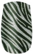 Naillease Nail Wraps Black/ Silver Glitter Zebra