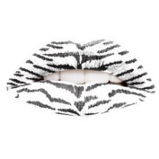 Passion Lips Temporary Lip Tattoo Wraps Includes 2 Applications - White Tiger