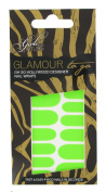 Girls With Attitude Glamour to Go Neon Nail Wraps Green