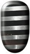 Ninxae Nail Wraps - Silver & Black Stripes