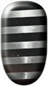Ninxae Nail Wraps - Silver & Black Stripes