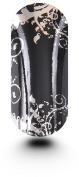 Kooky Elegant Silver & Black Wraps - TBP16711
