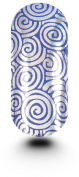 Kooky Retro Swirls Silver & Blue Wraps - TBP16736